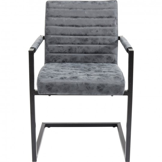 chaise avec accoudoirs cantilever barone grise kare design - Chaise Moderne Grise