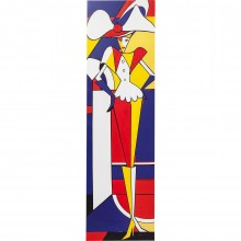 Tableau Touched Fashion Lady Red Line 160x45cm Kare Design