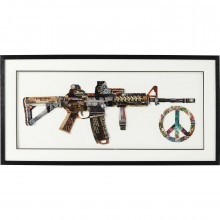 Tableau Frame Art Peace No War 50x100cm Kare Design