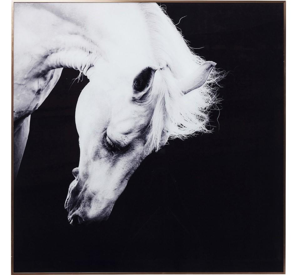 Tableau Frame Proud Horse cheval 100x100cm Kare Design