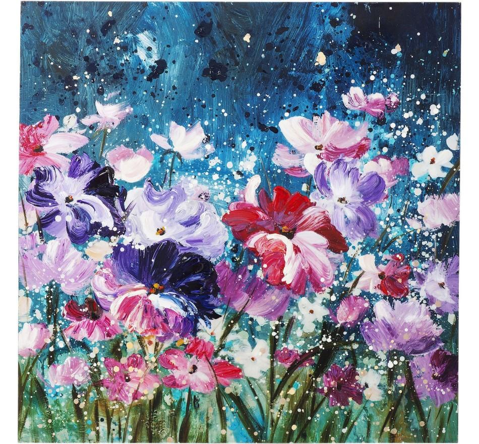 Peinture à l'huile Flower Garden 100x100cm Kare Design
