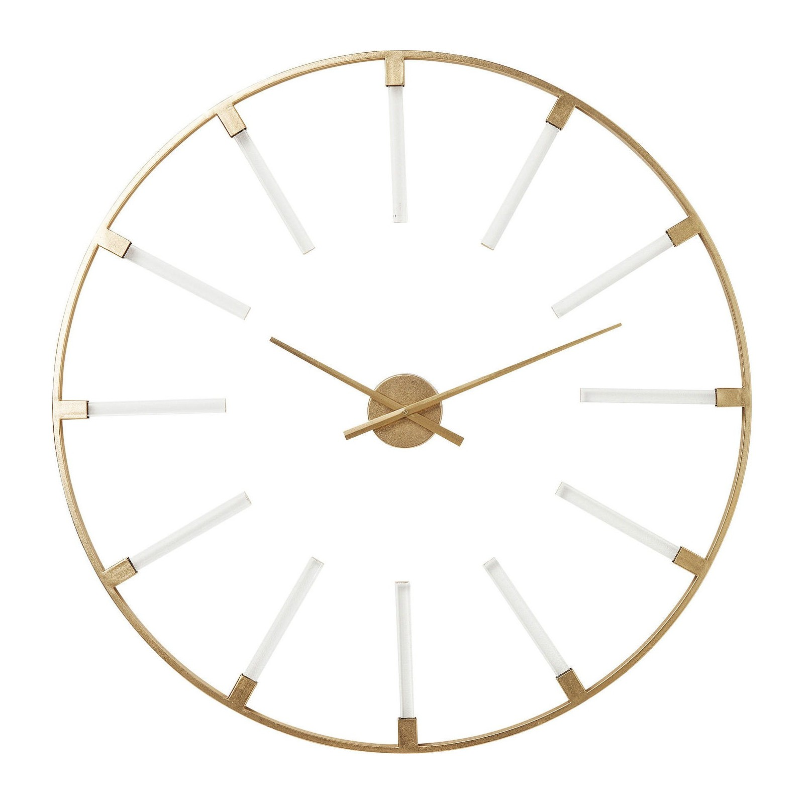 Horloge murale r tro dor e visible sticks kare design for Horloge salle de bain