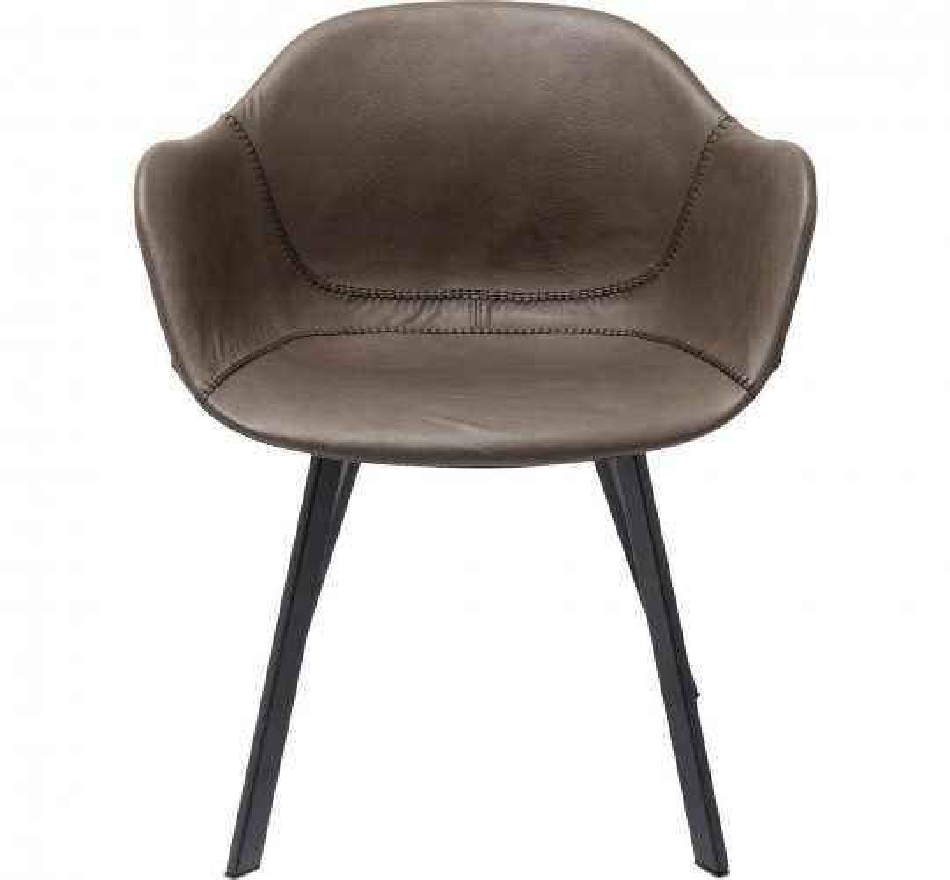 Chaise avec accoudoirs Lounge mat Kare Design