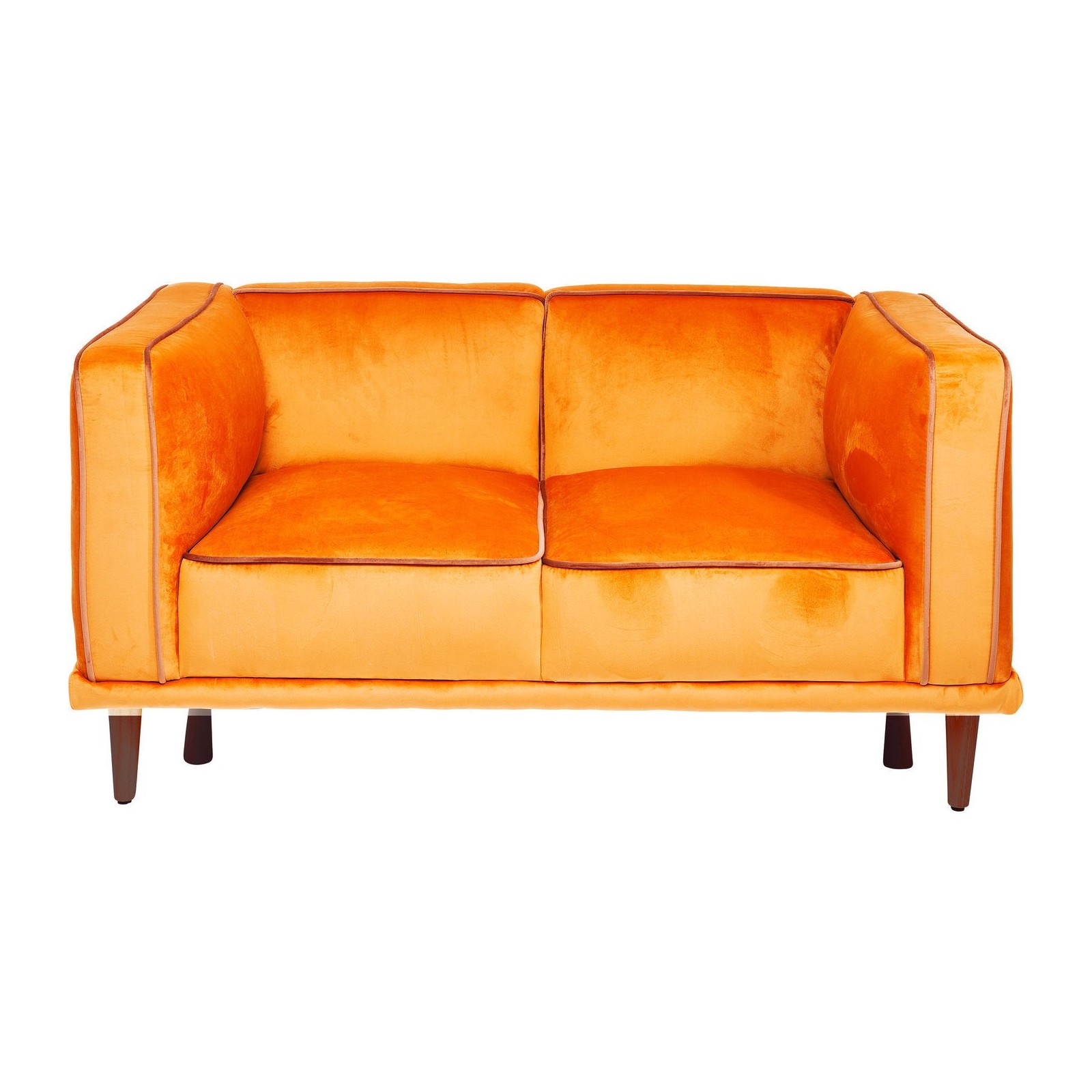 Canap r tro orange chill out kare design - Canape 2 places design ...