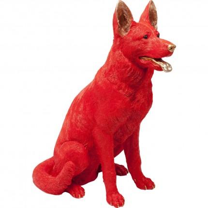 Tirelire chien Berger Allemand rouge Kare Design