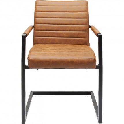 Chaise avec accoudoirs Cantilever Barone marron Kare Design