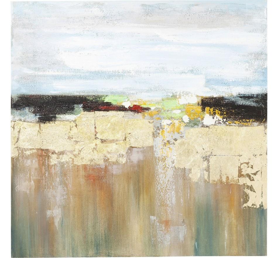 Peinture à l'huile Abstract Landscape 120x120cm Kare Design
