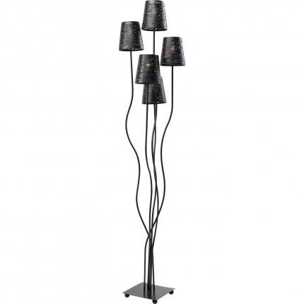Lampadaire Flexible 5 bras acier 163cm noir Kare Design