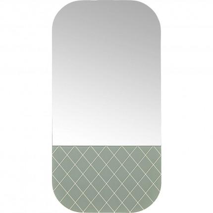 Miroir Café Society vert 70x35cm Kare Design