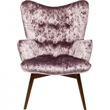 Fauteuil Vicky Diva velours violet Kare Design