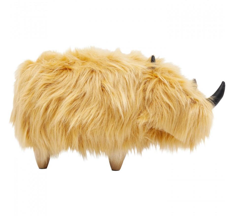 Tabouret Rhino Fur marron Kare Design