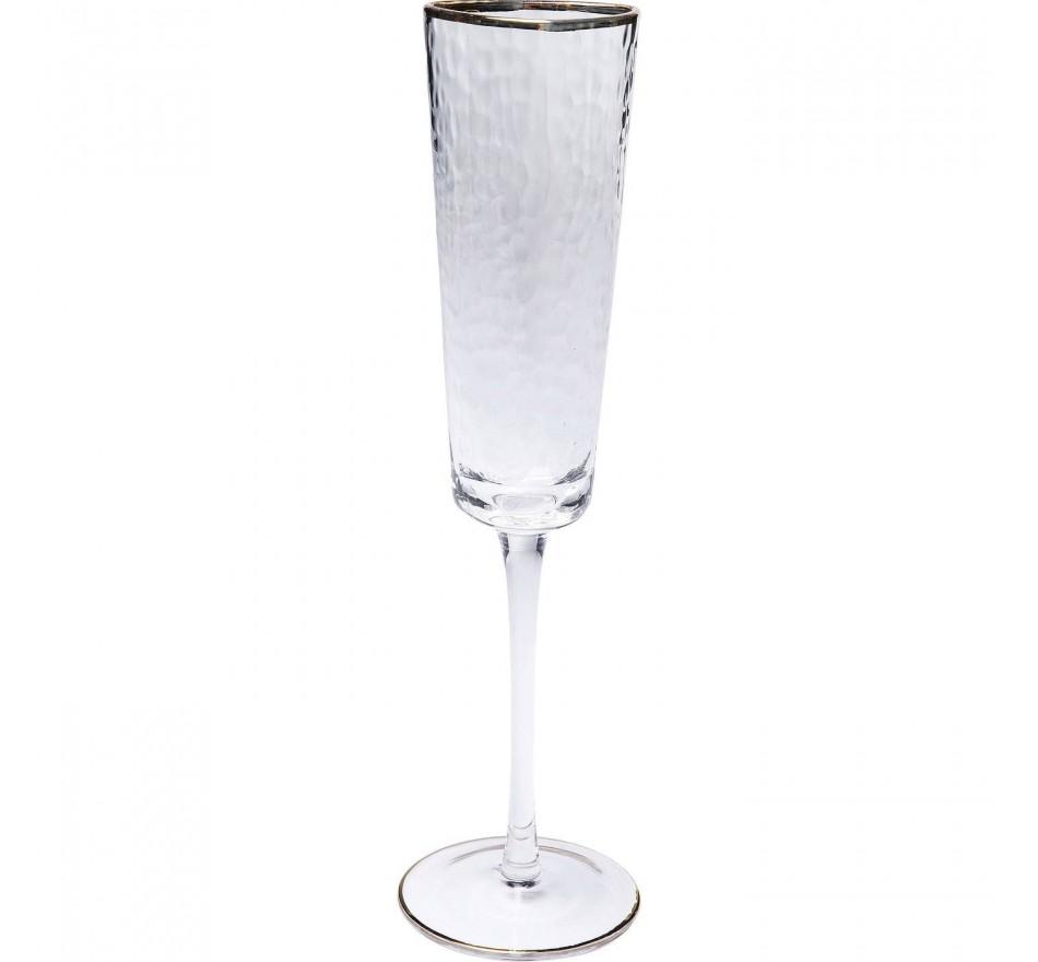 Flûtes à champagne Hommage set de 6 Kare Design