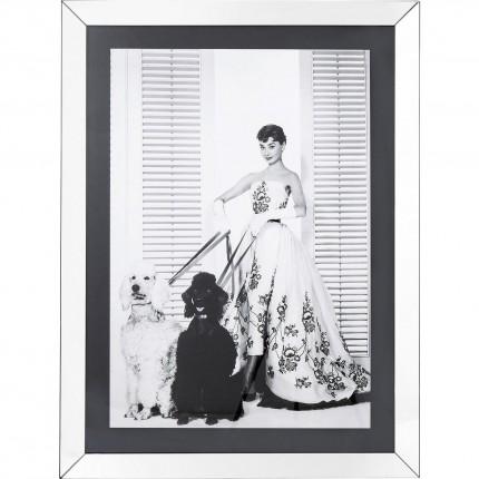 Tableau Frame Audrey chiens 120x90cm Kare Design