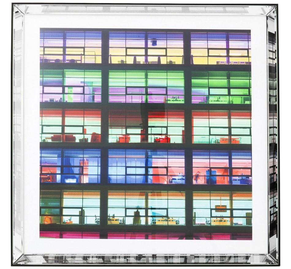 Tableau Miroir Frame Office Green 80x80cm Kare Design