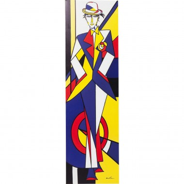 Tableau Touched Fashion Guy Red Line 160x45cm Kare Design