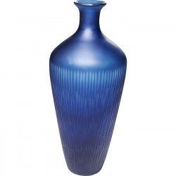 Vase Cutting Blue 43cm Kare Design