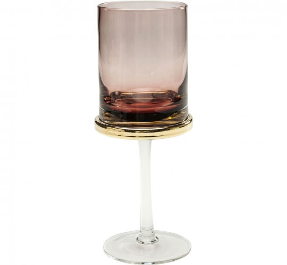 Verres à vin blanc Innocent violet set de 6 Kare Design