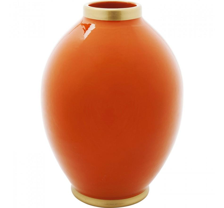 Vase Zebra orange 32cm Kare Design