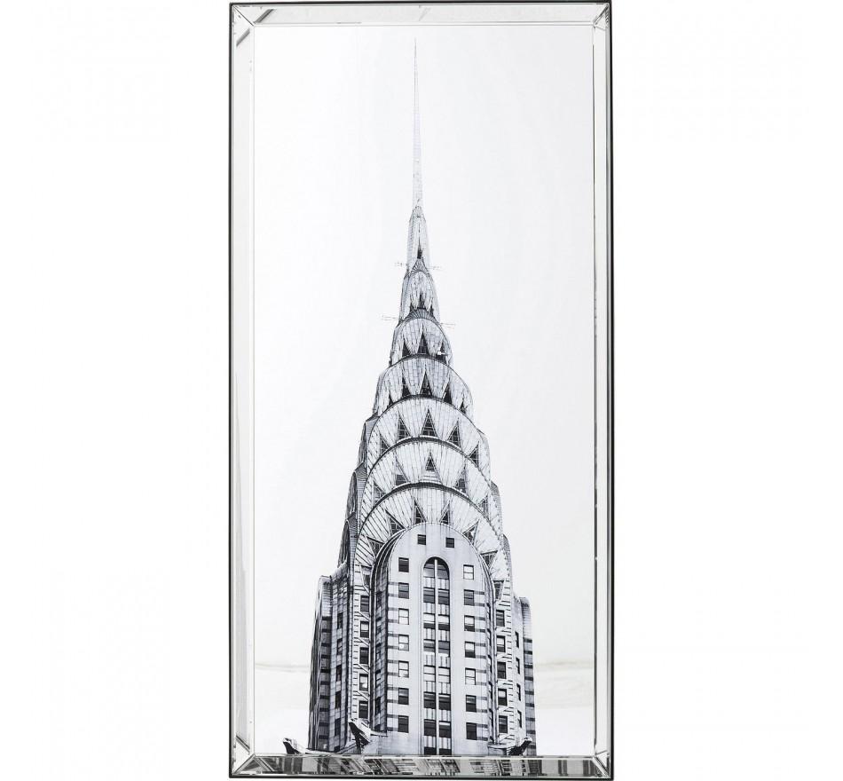 Tableau Miroir Chrysler Building 120x60cm Kare Design