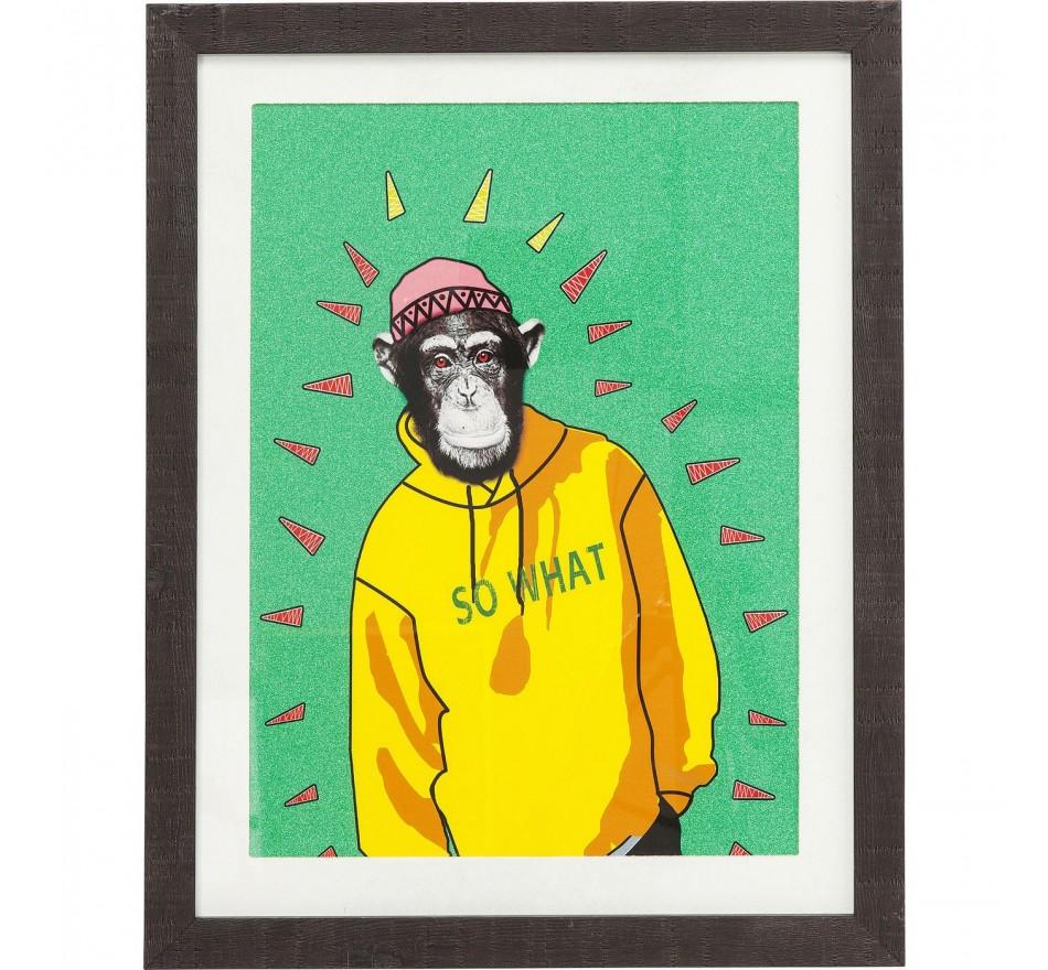 Tableau Frame Gangster Monkey