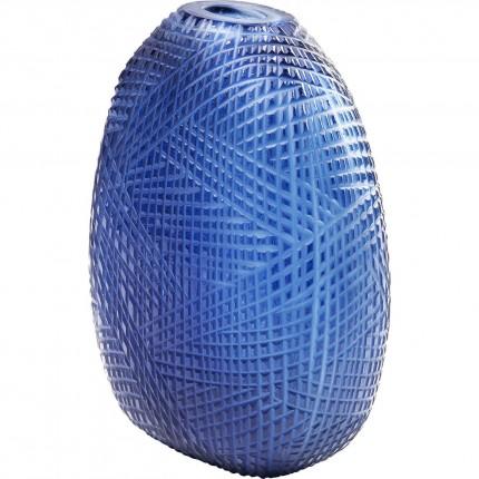 Vase Harakiri bleu 25cm Kare Design