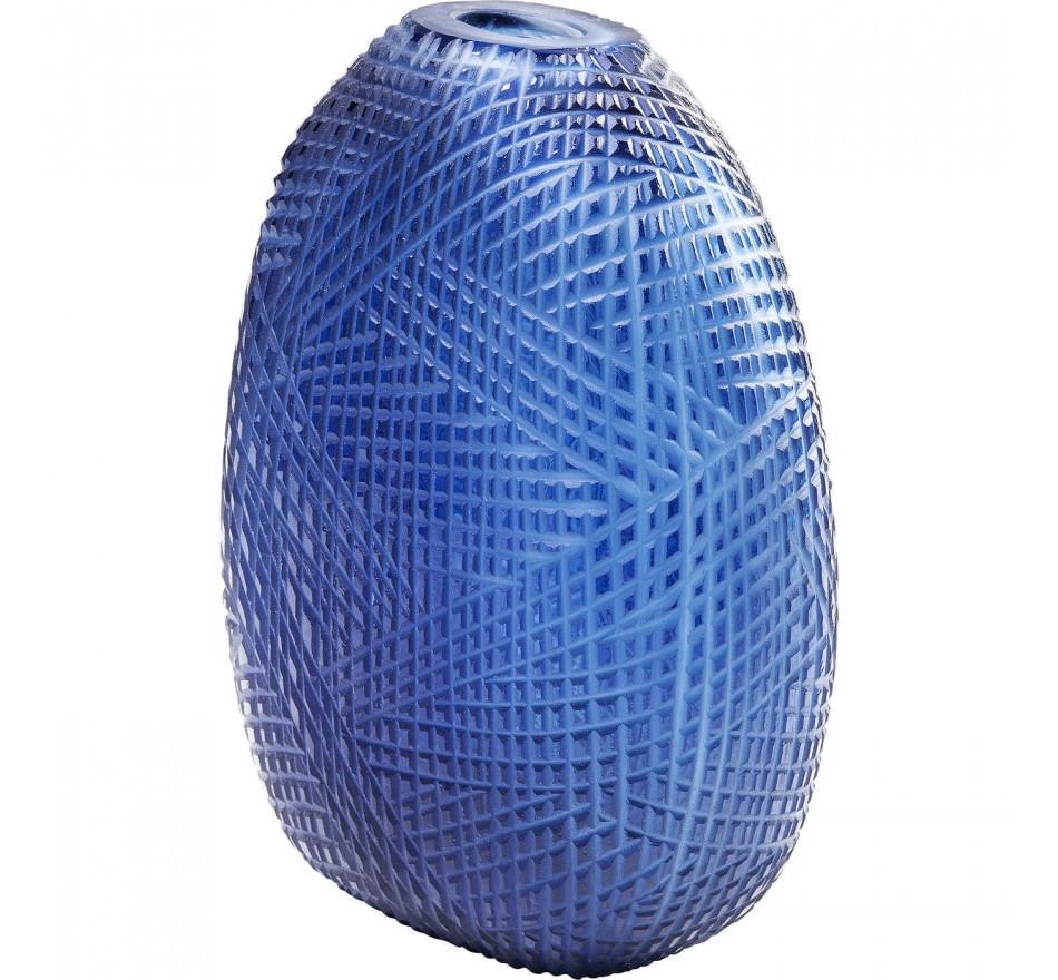 Vase Harakiri bleu 25cm