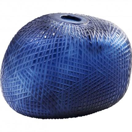 Vase Harakiri bleu 23cm Kare Design