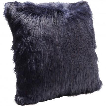 Coussin Ontario Fur bleu foncé 60x60cm Kare Design
