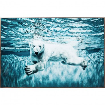 https://www.kare-click.fr/52181-thickbox/tableau-frame-swimming-polar-bear-80x120cm-kare-design.jpg