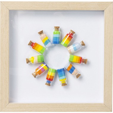 Tableau Frame Rainbow Jars Circle Kare Design