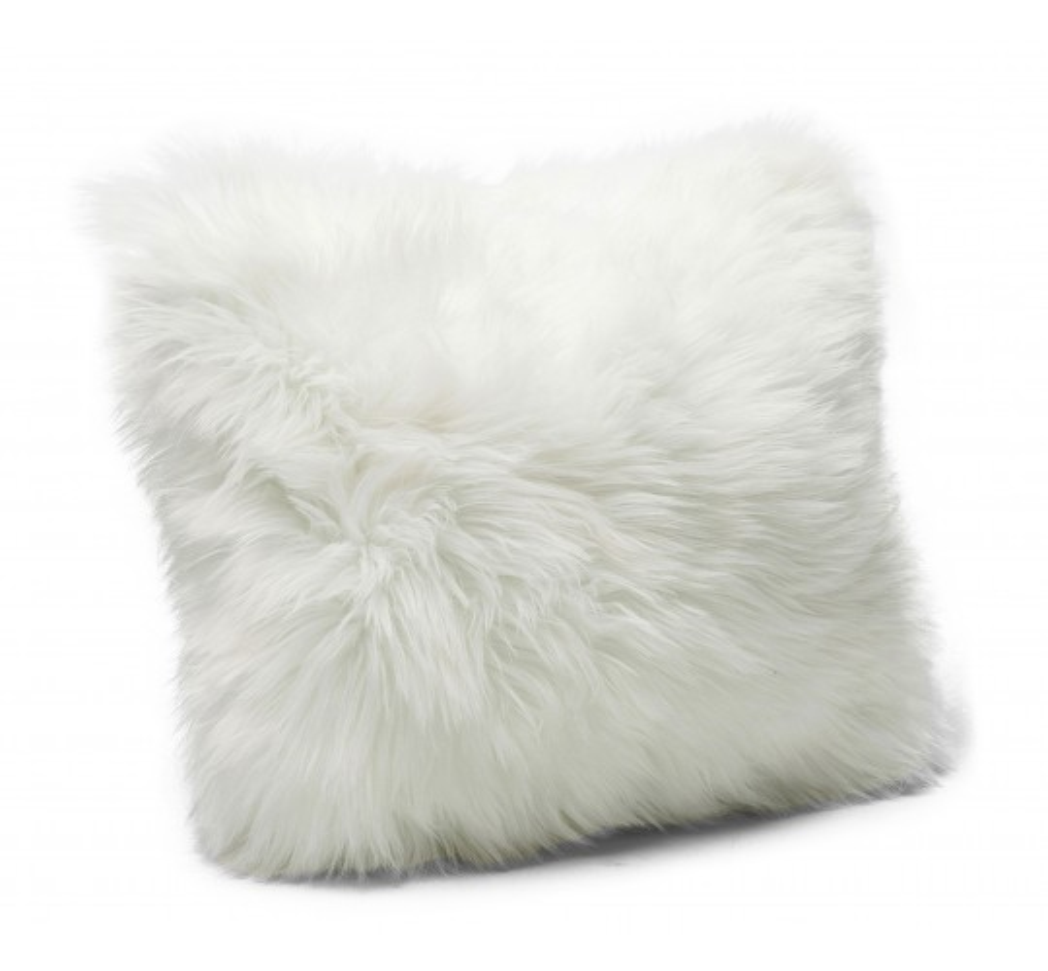 Coussin Fur blanc 40x40cm Kare Design