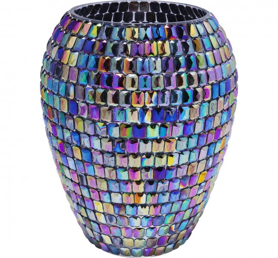 Vase Rainbow Diamonds 24cm Kare Design