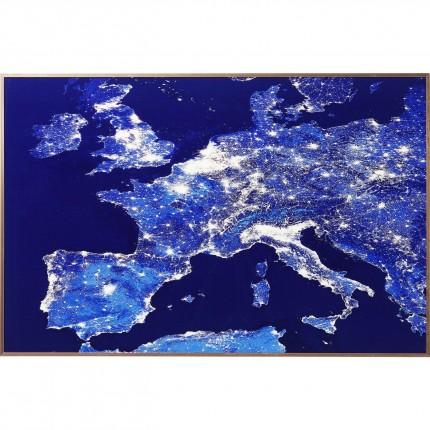 Tableau Frame Europe illuminée 60x90cm Kare Design