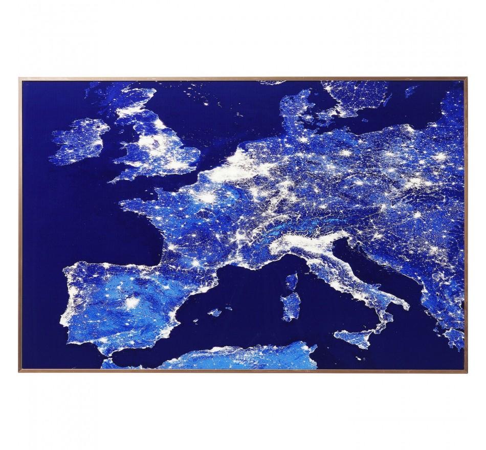Tableau Frame Europe At Night 60x90cm Kare Design