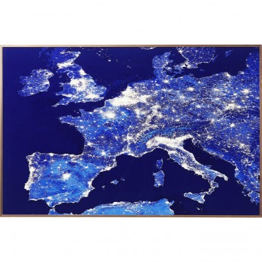 Tableau Frame Europe At Night 60x90cm Kare Design