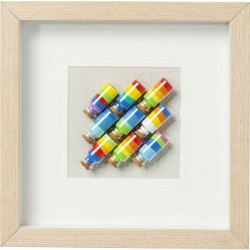 Tableau 3D Fioles Multicolores 31x31cm Kare Design