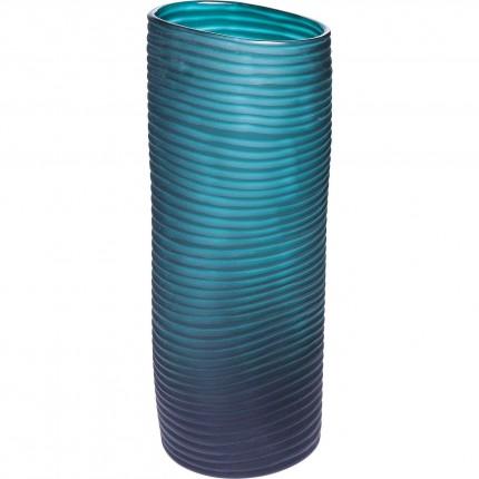 Vase Swirl turquoise 36cm Kare Design