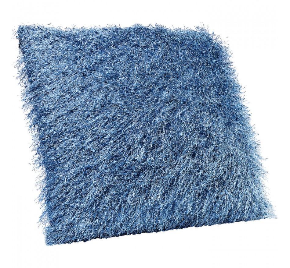Coussin Flocki bleu 45x45cm Kare Design