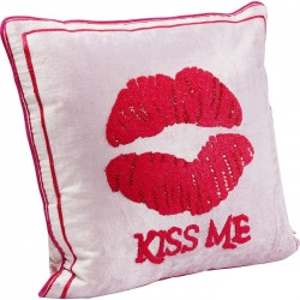 Coussin Kiss Me fuchsia 40x40cm Kare Design