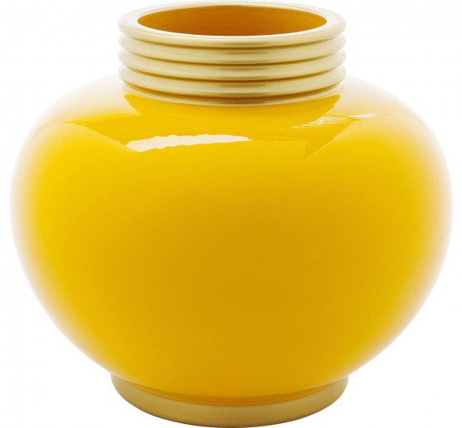 Vase Zebra jaune 25cm Kare Design