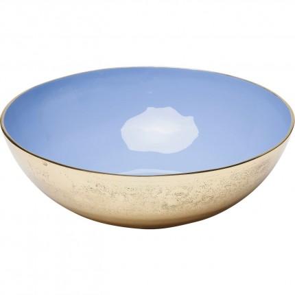 Coupe Olala dorée et bleue 33cm Kare Design