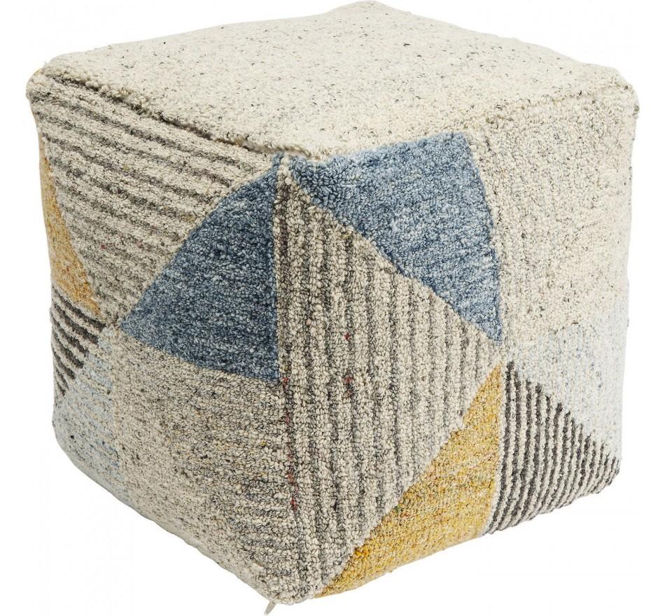 Pouf Triangle Stripes 45x45cm Kare Design