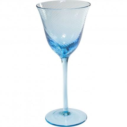 Verres à vin rouge Capri bleu clair set de 6 Kare Design