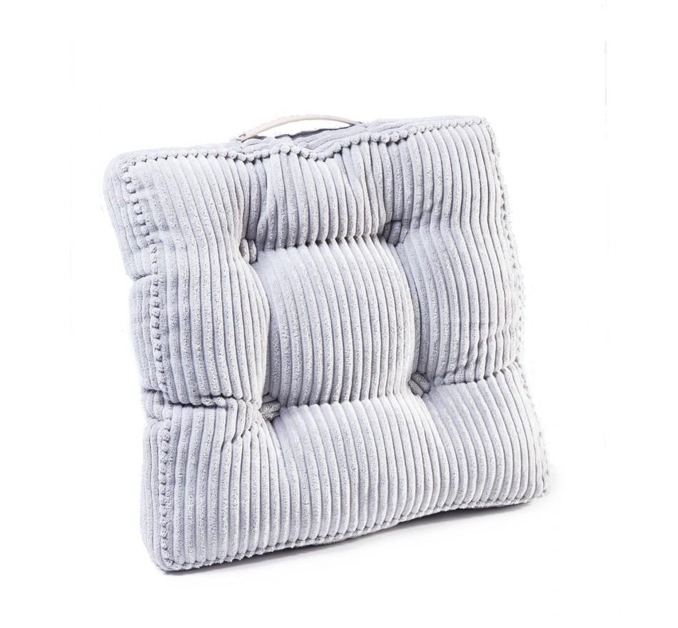 Coussin de sol Cord Handle gris 45x45cm Kare Design