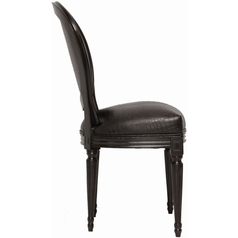 chaise baroque noire louis kare design. Black Bedroom Furniture Sets. Home Design Ideas
