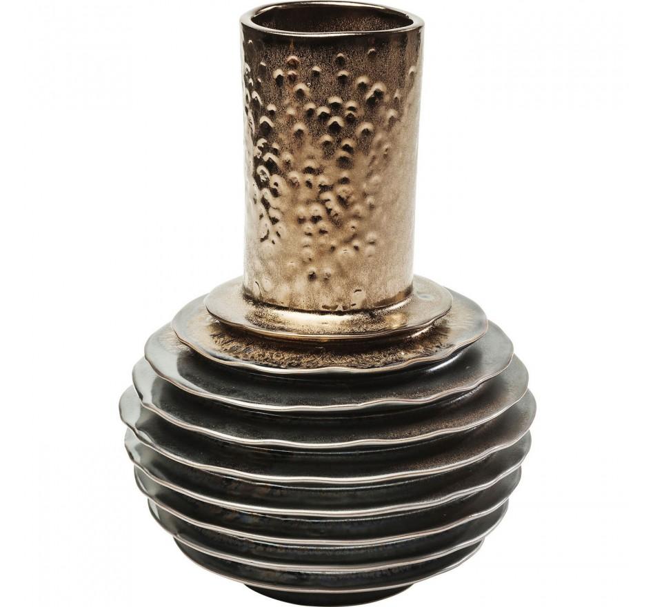 Vase Steps Belly cuivre 24cm Kare Design
