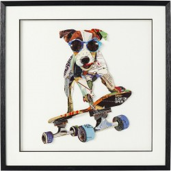 Tableau Frame Art Skater Dog 65x65cm Kare Design