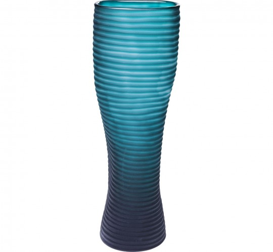 Vase Swirl turquoise 46cm Kare Design