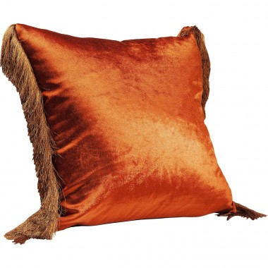 Coussin Fringes marron 45x45cm Kare Design