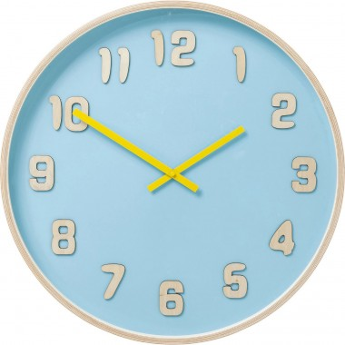 Horloge murale Nature Colore bleu clair Kare Design
